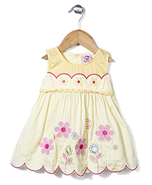 Smile Rabbit Stylish Floral Dress - Yellow