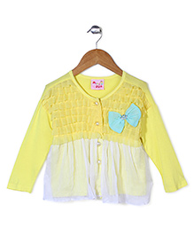 Mini Pink Top With Net - Yellow
