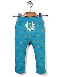 Notty Kid Attractive Track Pant - Aqua Blue