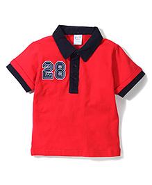 Poly Kids Trendy T-Shirt - Red & Black