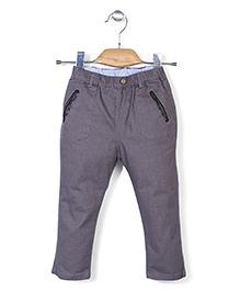 Minikid House Long Pants With Elastic Waist - Dark Grey