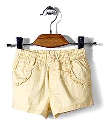 Miss Pretty Stylish Shorts - Light Yellow