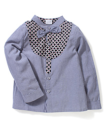 Petit CuCu Floral Print Shirt - Blue