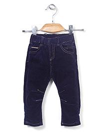 Minikid House Stylish Long Pants With Elastic Waist - Navy Blue
