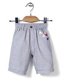 Petit CuCu Triangle Print Shorts - Grey