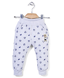 Notty Kid Bear And Rugby Print Pant - Grey