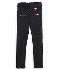 Barbie Slim Fit Check Jeggings - Black