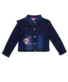 Barbie Full Sleeves Party Wear Jacket - Blue