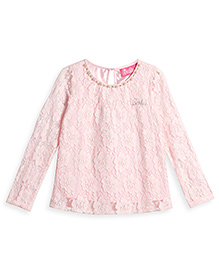 Barbie Long Sleeves Party Wear Ornate Top - Light Pink