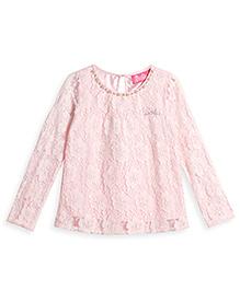 Barbie Long Sleeves Party Wear Ornate Top - Light Pink