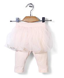 Petit CuCu Skirt Style Leggings - Peach