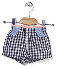 Petit CuCu Checkered Print Shorts - Multicolour