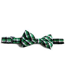 Milonee Plaid Bow Tie - Green & Black