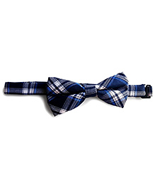 Milonee Plaid Bow Tie - Navy Blue
