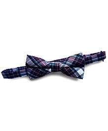 Milonee Plaid Bow Tie - Blue