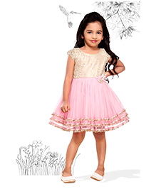 Peek a Boo Party Dress - Pink
