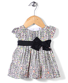 ToffyHouse Short Sleeves Frock Floral Print - Multi Color