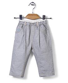 Petit CuCu Solid Design Pants - Grey