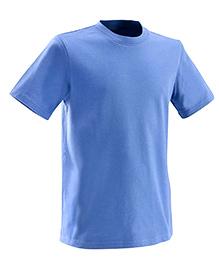 Domyos Solid Color Half Sleeves T- Shirt - Blue