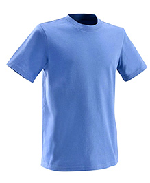 Domyos Solid Color Half Sleeves T- Shirt - Blue