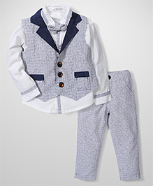 Elite Fashion Smart Suit Set - Grey & Navy