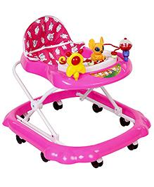 Musical Baby Walker Rabbit Toy - Pink