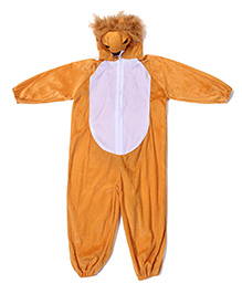 Gifts World Hooded Jumpsuit Style Lion Costume - Light Brown