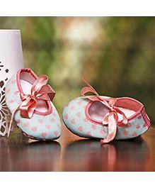 D'chica Shoes Heart Print Shoes - Blue & Peach