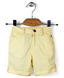 Palm Tree Shorts - Light Yellow