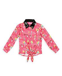 Barbie Full Sleeves Shirt Graphic Print - Light Pink