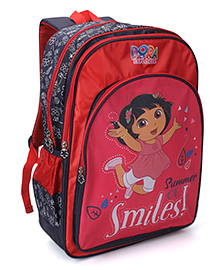 Dora Summer Of Smiles Print Backpack Red - 18 inches