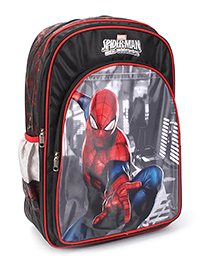 Marvel Spiderman Backpack Black  - 18 inches