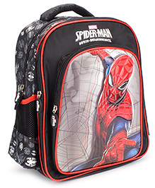 Marvel Spiderman Silver Checker School Backpack Black - 14 inches