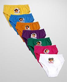Red Rose Dora Print Pack Of 6 Panties - Multi Color
