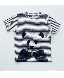 MilkTeeth Panda Print T-Shirt - Black