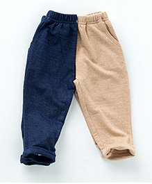 MilkTeeth Twin Pack of 2 Sweatpants - Beige & Navy