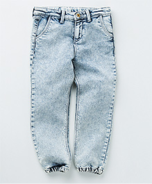 MilkTeeth Denim Jogger Pants - Light Blue