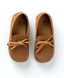 MilkTeeth Suede Loafers - Tan Brown