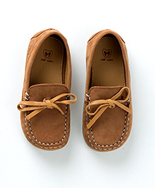 MilkTeeth Suede Loafers - Tan Brown