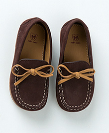 MilkTeeth Suede Loafers - Dark Brown