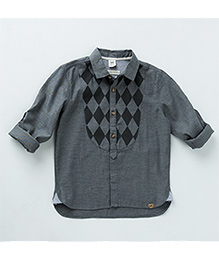 MilkTeeth Stylish Harlequin Shirt - Grey