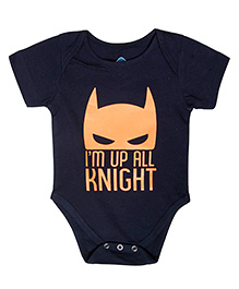 Blue Bus Store I'm Up All Knight Print Onesie - Blue