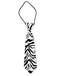 Kuddle Kids Tiger Print Tie - Black & White