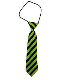 Kuddle Kids Cross Stripe Print Tie - Green & Black
