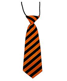 Kuddle Kids Cross Stripe Print Tie - Orange & Black