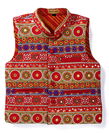 Shruti Jalan Ethnic Jacket With Embroidery - Multicolour