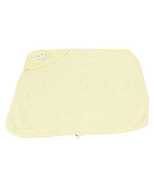 Simply Hooded Towel Teddy Embroidery - Yellow