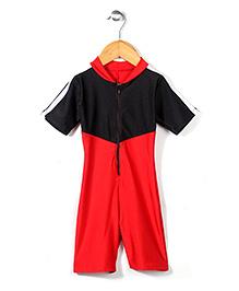 Rovars Half Sleeves Diving Suit - Black Red