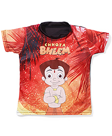 Chhota Bheem Printed Swim T-Shirt - Orange