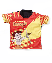Chhota Bheem Printed Swim T-Shirt - Red Yellow